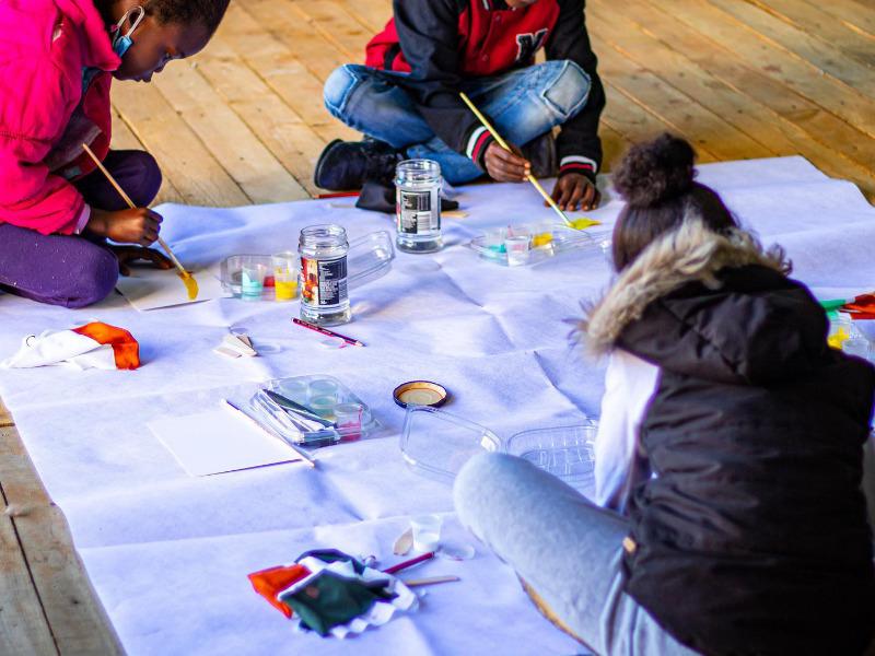 Children Painting Kids Ministry KLC